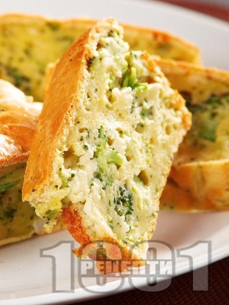 Солен кекс с броколи и карфиол - снимка на рецептата